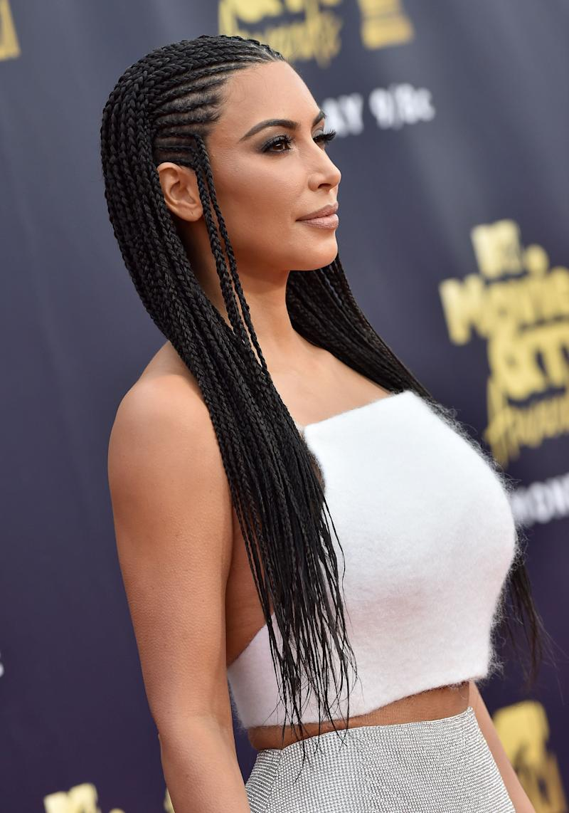Kim Kardashian attends the 2018 MTV Movie And TV Awards at Barker Hangar on June 16, 2018 in Santa Monica, California. (Photo: Axelle/Bauer-Griffin via Getty Images)