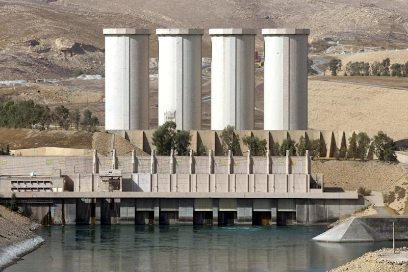 The Mosul Dam on the Tigris River, around 50 km north of the Iraqi city of Mosul