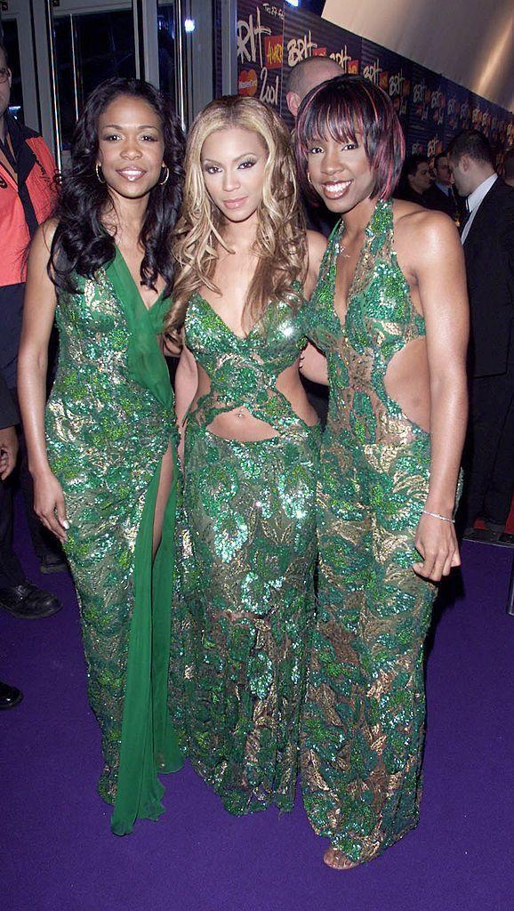 """<p>The trio, who regularly co-ordinated their outfits in music videos and on the red carpet, attended the awards in 2001 and performed 'Independent Women' on stage. </p><p>In 2002, the trio won the Best International Group award and 17 years later Bey won the same award - this time with husband Jay-Z for their duo The Carters. Bey and Jay <a href=""""https://www.elle.com/uk/life-and-culture/a26433650/beyonce-jay-z-brit-award-meghan-markle/"""" rel=""""nofollow noopener"""" target=""""_blank"""" data-ylk=""""slk:famously accepted the award via a video link standing in front of a portrait of Meghan Markle."""" class=""""link rapid-noclick-resp"""">famously accepted the award via a video link standing in front of a portrait of Meghan Markle.</a></p>"""