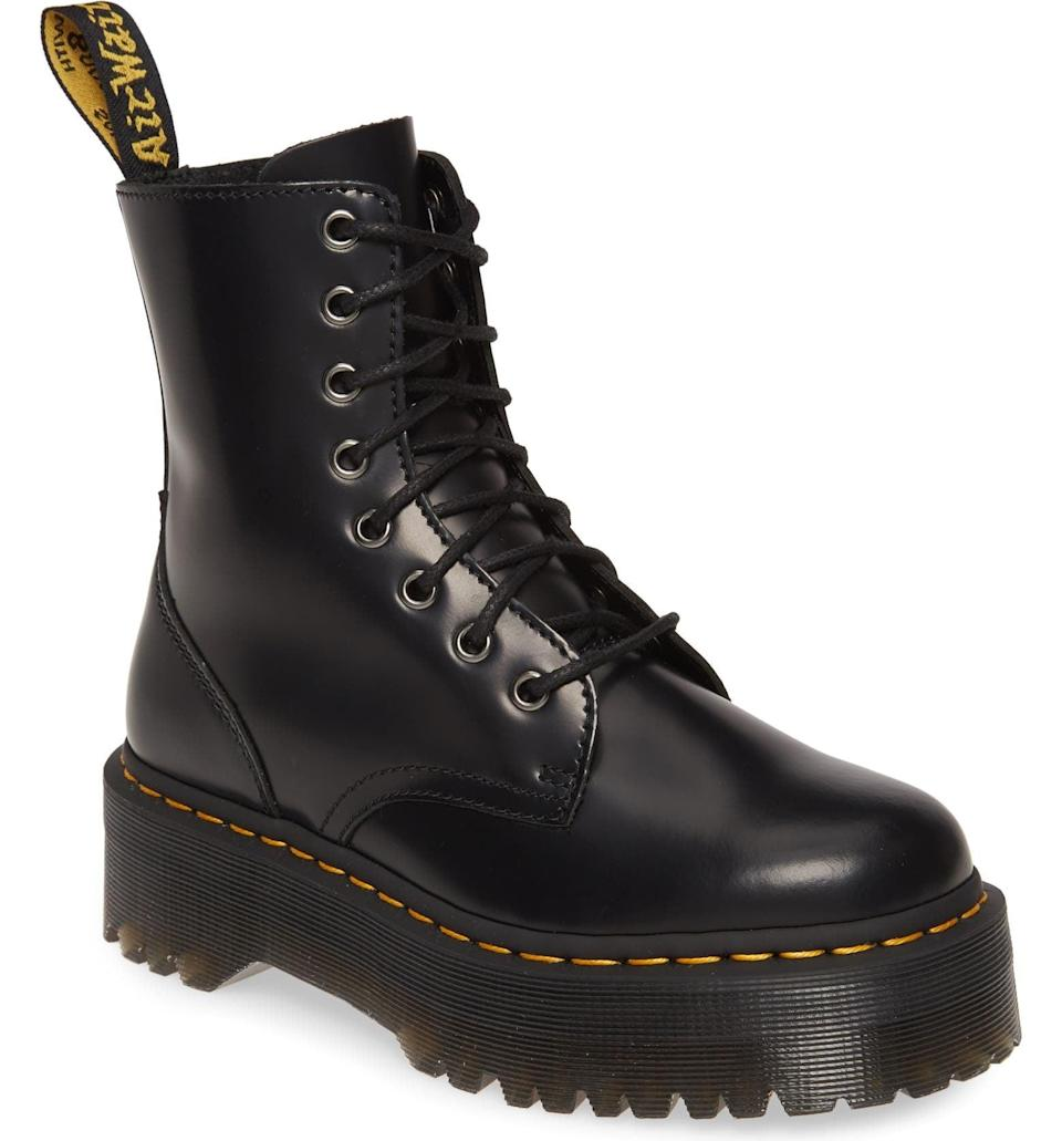 <p>Everyone needs a pair of <span>Dr. Martens 'Jadon' Boots</span> ($180) in their closet.</p>
