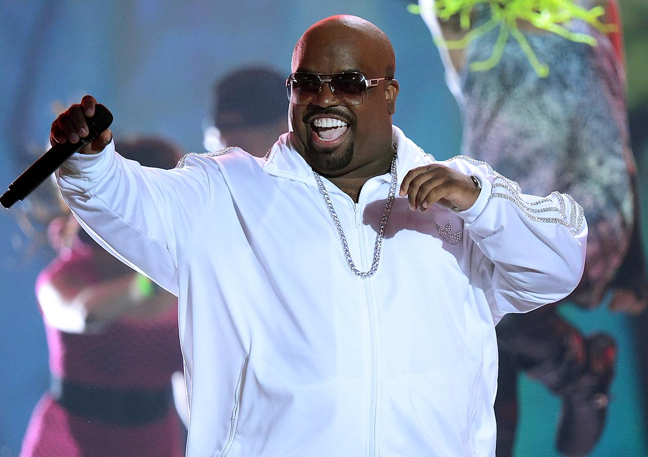 Cee Lo Green The 2012 performer's real name is Thomas DeCarlo Callaway. Cee-lo refers to a game played with three dice.