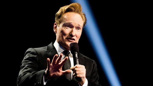 Host Conan O'Brien on stage during the 2016 Nobel Peace Prize Concert at Telenor Arena in Oslo