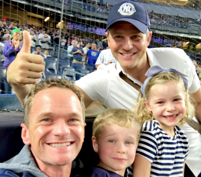 "<p>""Honored to sing the National Anthem tonight at @Yankees Stadium. And they won!"" wrote the actor, pictured here with his husband, David Burtka, and twins Gideon and Harper. ""I take (almost) no credit. #bucketlist."" (Photo: <a href=""https://www.instagram.com/p/BaAvPzIBCb6/?hl=en&taken-by=nph"" rel=""nofollow noopener"" target=""_blank"" data-ylk=""slk:NPH via Instagram"" class=""link rapid-noclick-resp"">NPH via Instagram</a>) </p>"