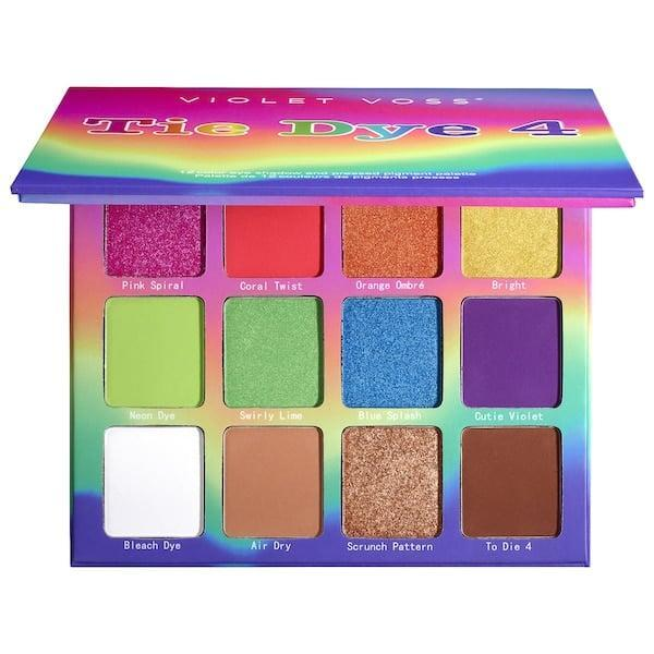<p>Now's the time to experiment with a tie-dye look on your lids, thanks to this new <span>Violet Voss Tie Die 4 Eyeshadow Palette</span> ($36).</p>