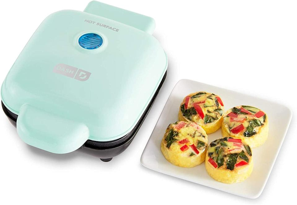 <p>The <span>Dash Deluxe Sous Vide Style Egg Bite Maker</span> ($25, originally $30) is perfect for breakfast on-the-go. It comes with four mini silicon molds for making egg bites and one large breakfast sandwiches and omelets. You can make so many more dishes in this maker.</p>