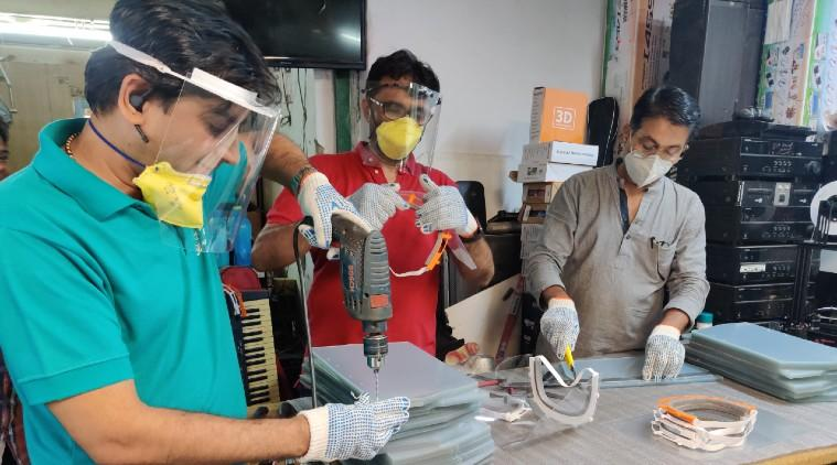 3D face shields, coronavirus 3D printed face shields, 3d printed face masks, Boson Machines, 3D face shields for doctors India