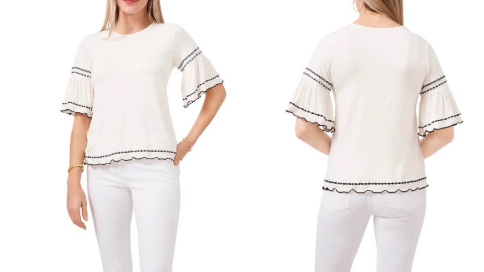 Vince Camuto Embroidered Knit Top - Nordstrom, $48 (originally $99)
