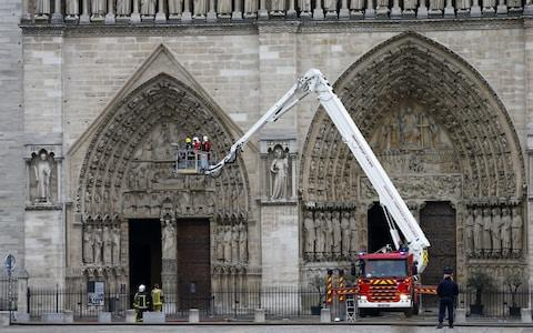 Forensic investigators face a 49-hour wait to work inside the Notre-Dame - Credit: Ian Langsdon/REX