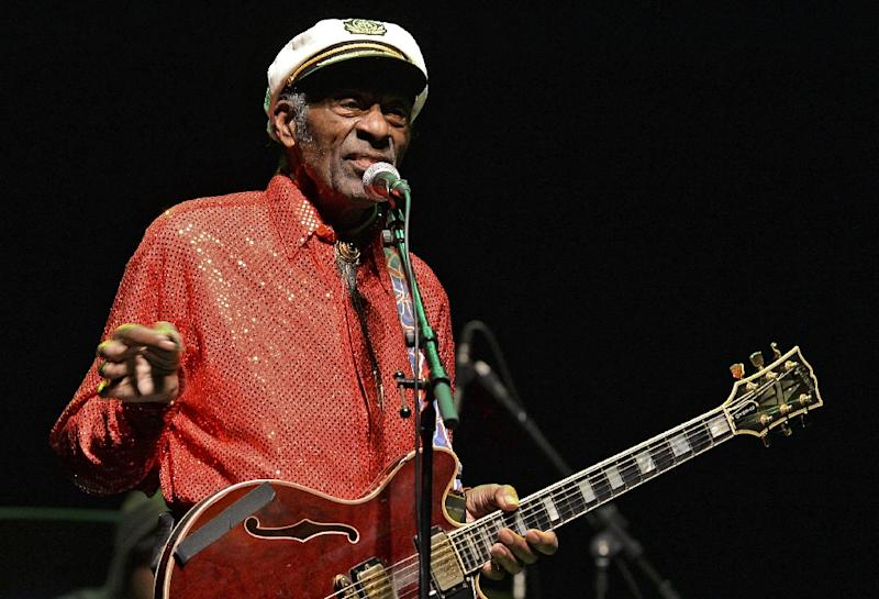 The death of Chuck Berry drew emotional tributes from fellow musicians and other celebrities who praised him as a rock 'n' roll trailblazer (AFP Photo/PABLO PORCIUNCULA)