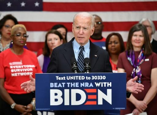 Democratic presidential candidate Joe Biden, at a campaign stop in Columbus, Ohio on March 10, 2020