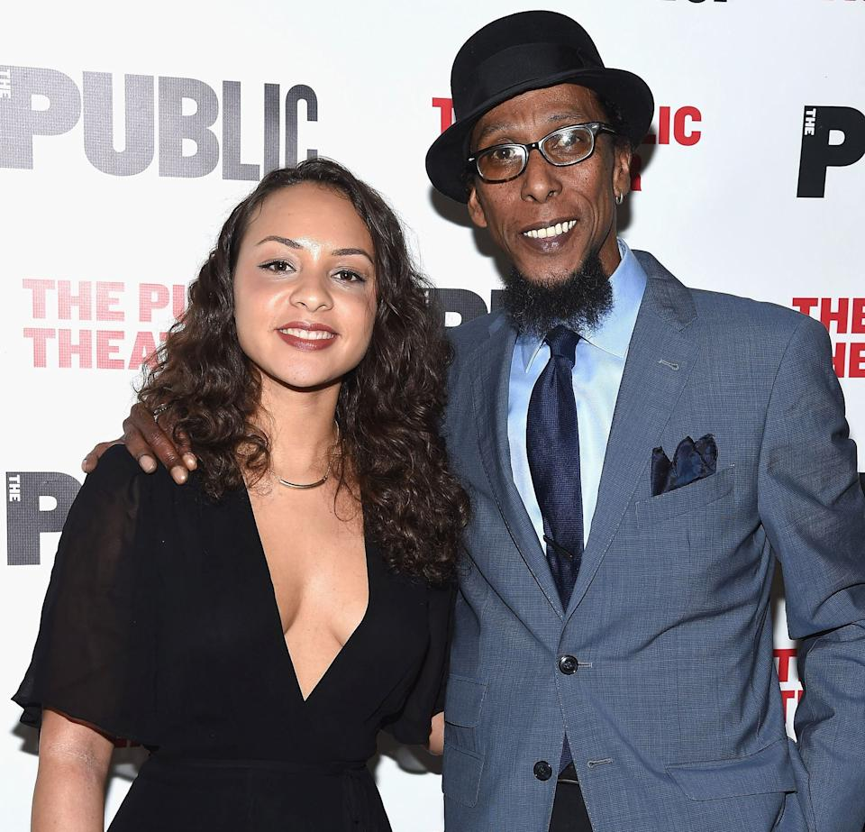 """Jasmine Cephas Jones and Ron Cephas Jones attend the """"Head of Passes"""" opening night celebration at The Public Theater on March 28, 2016, in New York. (Photo: Gary Gershoff via Getty Images)"""