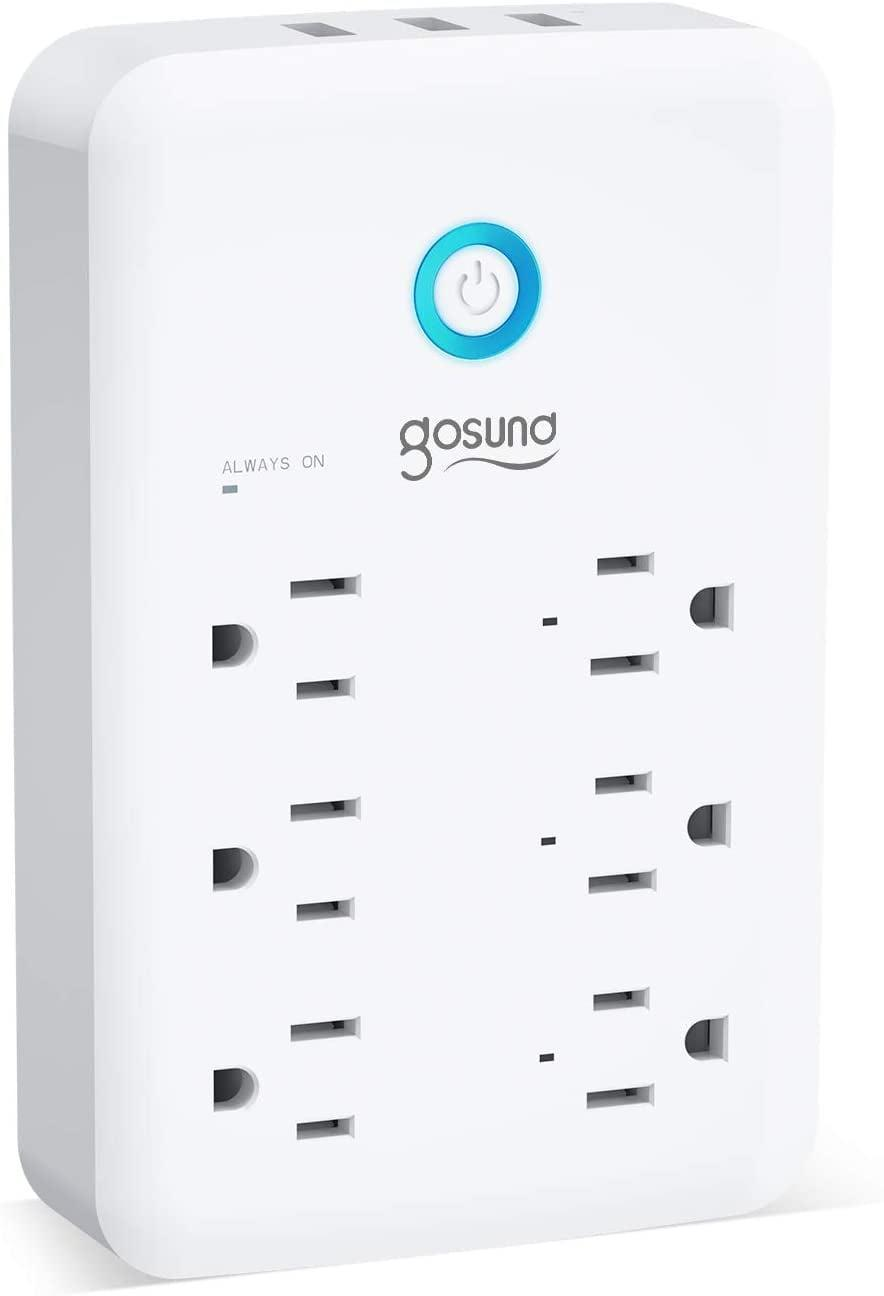 <p>The <span>Gosund Wall Outlet Extender</span> ($20) is loaded with six outlets and three USB ports. You can control one outlet at a time or group them together. </p>