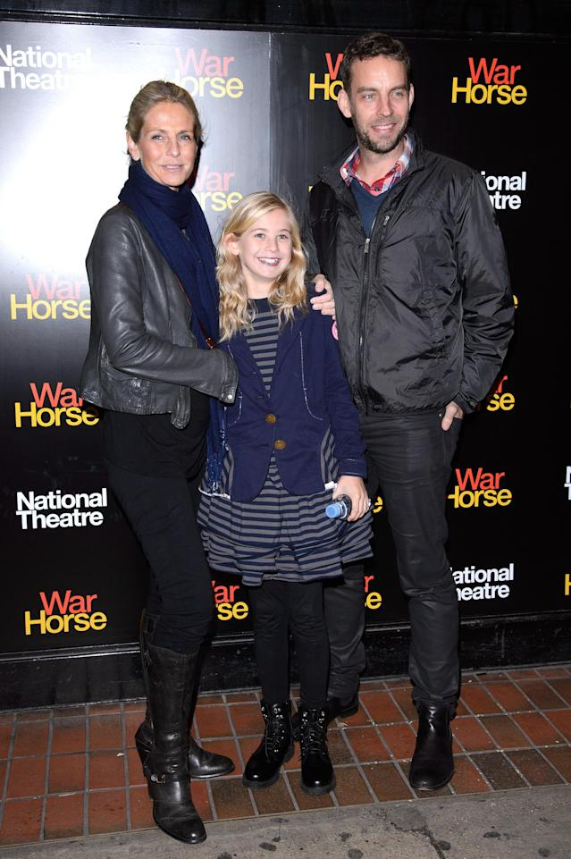Ulrika Jonsson and Brian Monet at the fifth anniversary performance of <em>War Horse</em> in 2012. (Getty Images)