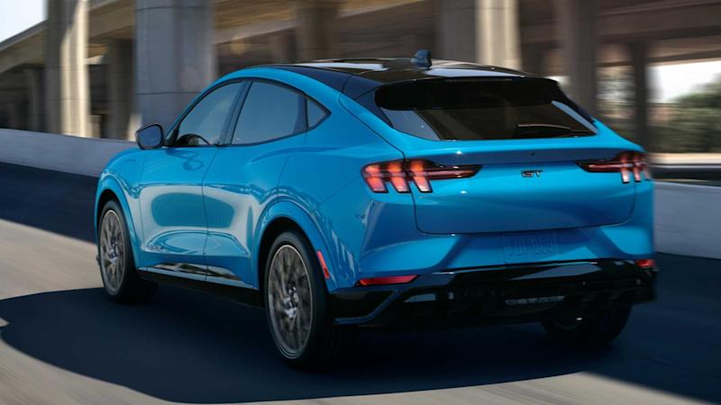Ford Mustang Mach-E GT in Grabber Blue