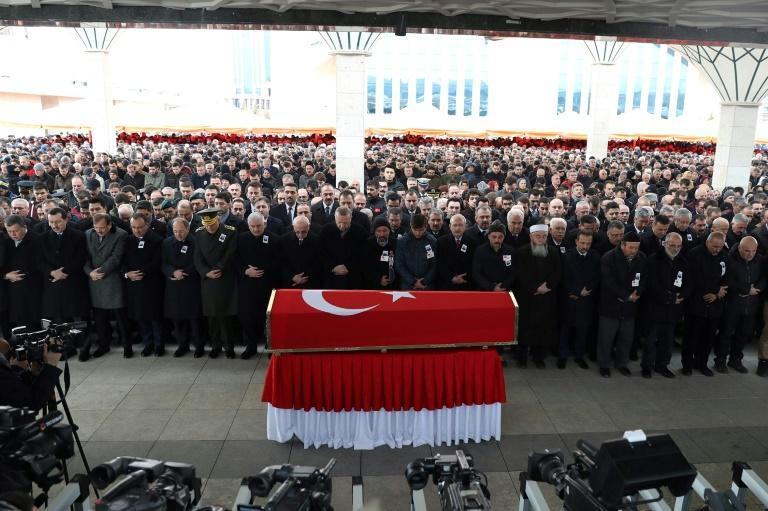 Sergeant Musa Ozalkan, 30, the first Turkish military fatality of the operation, was laid to rest with full honours in a ceremony in Ankara attended by the Turkish leadership