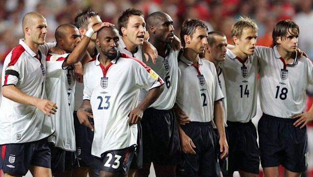 <p>England finished top of Group 7 when qualifying for Euro 2004, and secured their qualification with a 0-0 draw over Turkey in their final game. England's starting 11 that day read: </p> <br><p>David James, Gary Neville, Ashley Cole, Sol Campbell, John Terry, Nicky Butt, Steven Gerrard, David Beckham, Paul Scholes, Wayne Rooney and Emile Heskey.</p> <br><p>Fast forward eight months to the major tournament and England kicked-off their campaign with a 2-1 defeat to France. There were three changes made from the side England qualified with. </p> <br><p>Terry, Butt and Heskey all lost their places, and in came Ledley King, Frank Lampard and Michael Owen.</p> <br><p>England went on to reach the quarter-final stage, where they were beaten by eventual finalists Portugal in what was a disappointing end to what looked to be a promising tournament for England.</p>