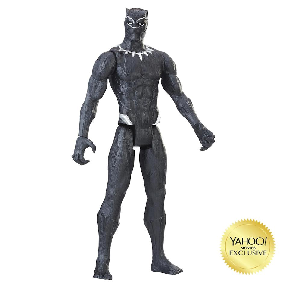 "<p>""The battles are bigger and the stakes are higher with these 12-inch scale figures from the Tithan Hero Series line! Charge into battle to defend Wakanda with movie-inspired figures, featuring five points of articulation. Choose between Black Panther or Erik Killmonger. $9.99 (Photo: Hasbro) </p>"