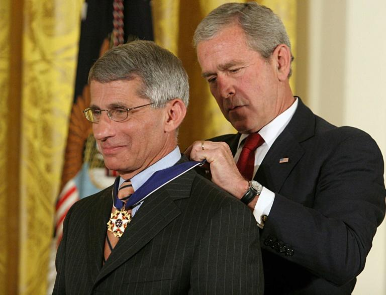 George W. Bush presented Anthony Fauci with the Presidential Medal of Freedom in 2008