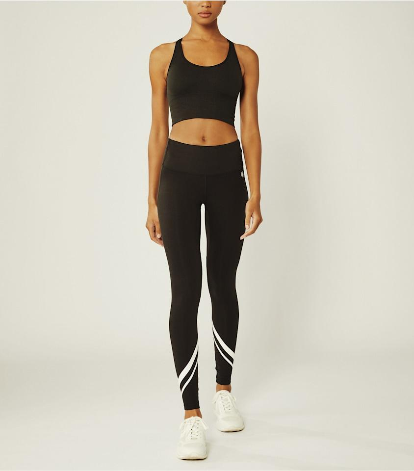 """<p>These <product href=""""https://www.toryburch.com/high-rise-weightless-chevron-leggings/73689.html?color=007&amp;size=M&amp;utm_source=google&amp;utm_medium=cpc&amp;adpos=&amp;scid=scplp192485557534&amp;sc_intid=192485557534&amp;gclid=EAIaIQobChMIverVjJ3J6wIVoT6tBh3sWwYvEAYYAiABEgILHfD_BwE&amp;gclsrc=aw.ds"""" target=""""_blank"""" class=""""ga-track"""" data-ga-category=""""internal click"""" data-ga-label=""""https://www.toryburch.com/high-rise-weightless-chevron-leggings/73689.html?color=007&amp;size=M&amp;utm_source=google&amp;utm_medium=cpc&amp;adpos=&amp;scid=scplp192485557534&amp;sc_intid=192485557534&amp;gclid=EAIaIQobChMIverVjJ3J6wIVoT6tBh3sWwYvEAYYAiABEgILHfD_BwE&amp;gclsrc=aw.ds"""" data-ga-action=""""body text link"""">Tory Sport High-Rise Weightless Chevron Leggings</product> ($128) are super lightweight and easy to move in.</p>"""