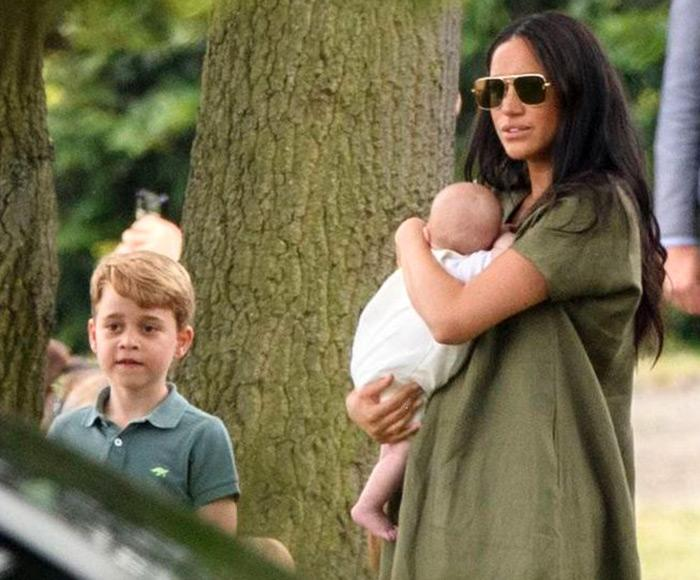 Prince George, Archie and Meghan Markle | Tim Rooke/Shutterstock