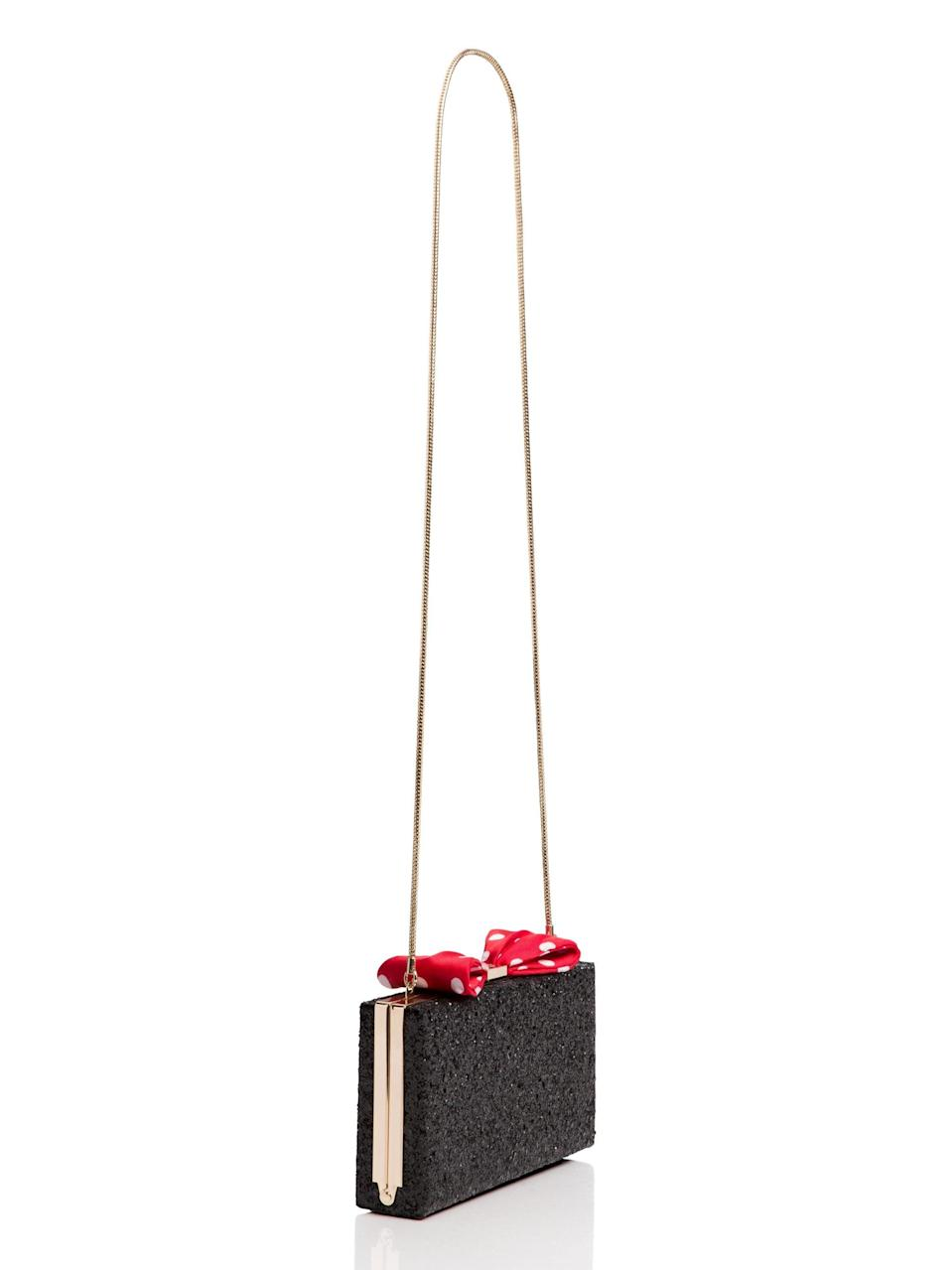 <p>This <span>Kate Spade for Minnie Mouse Bow Clasp</span> ($230, originally $328) is perfect for big nights out.</p>