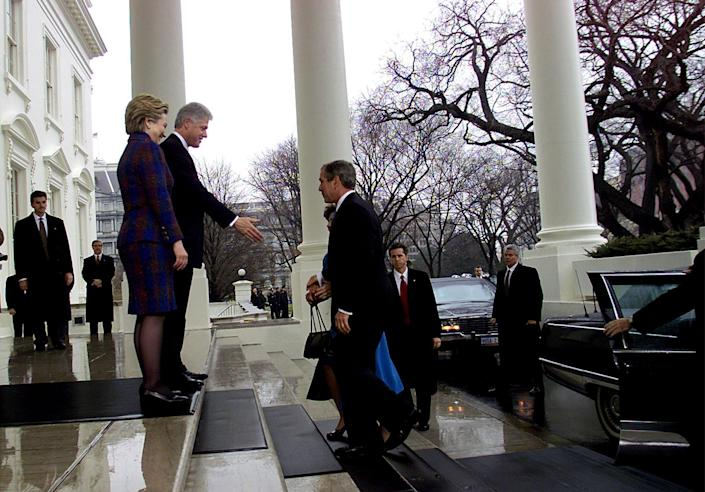 The Clintons and Bushes, the two main US political dynasties of the late 20th century, have welcomed each other multiple times into the White House.AFP via Getty Images