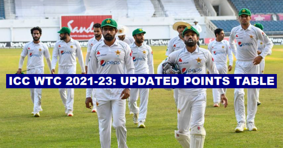 ICC World Test Championship 2021-23: Updated Points Table After The 2nd Test Between West Indies And Pakistan