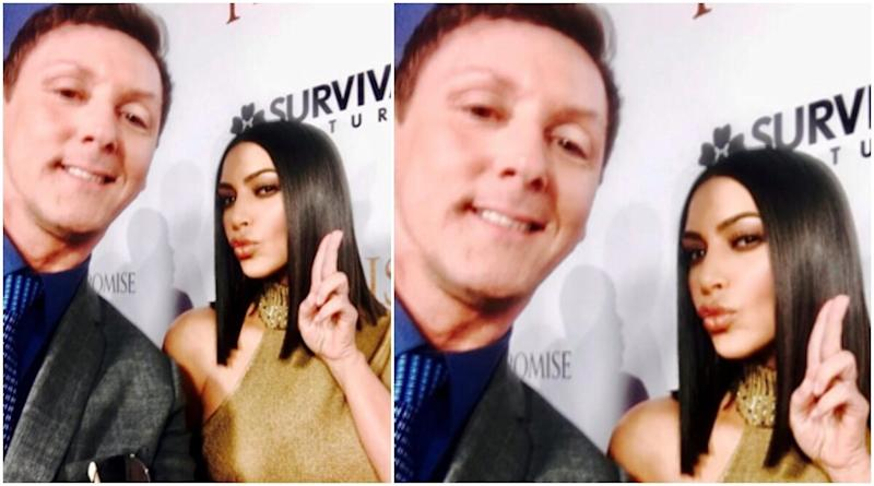 Hollywood Star Kim Kardashian Gave British TV Personality Sean Borg a Red Carpet Selfie Lesson