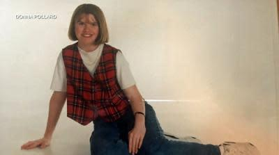 Donna Pollard aged 14, just two months before she met her husband