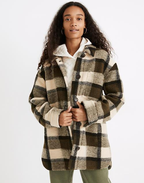 """<br><br><strong>Madewell</strong> Belrose Shirt-Jacket in Maran Plaid, $, available at <a href=""""https://go.skimresources.com/?id=30283X879131&url=https%3A%2F%2Fwww.madewell.com%2Fbelrose-shirt-jacket-in-maran-plaid-NB288.html"""" rel=""""nofollow noopener"""" target=""""_blank"""" data-ylk=""""slk:Madewell"""" class=""""link rapid-noclick-resp"""">Madewell</a>"""