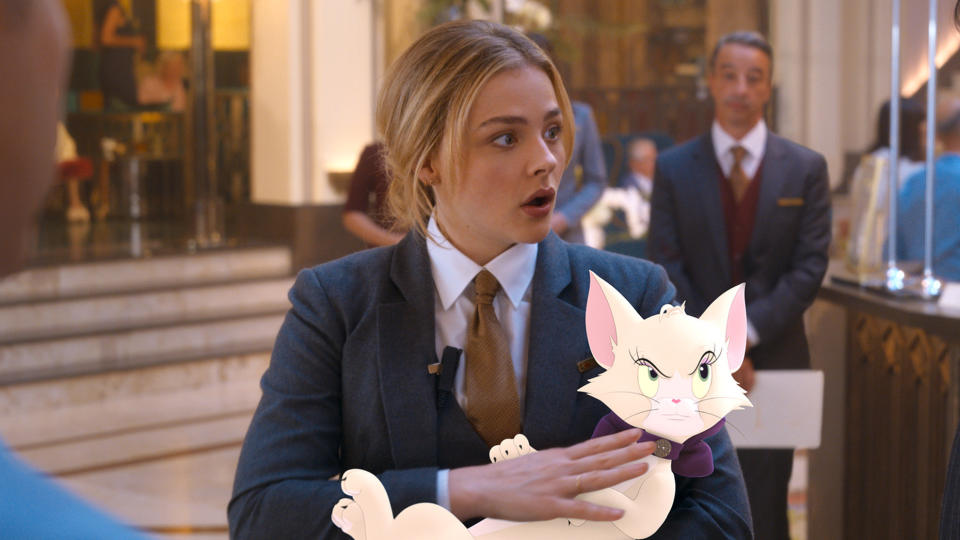 Chloë Grace Moretz is the human lead of the new 'Tom & Jerry' movie. (Credit: Warner Bros)