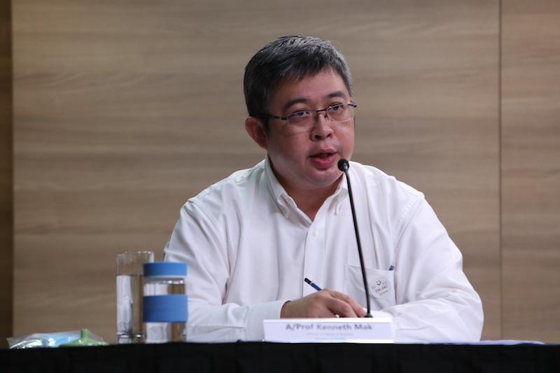 A/P Kenneth Mak, director of medical services at Singapore's Ministry of Health, addresses reporters at a virtual press conference on Friday, 8 May 2020. PHOTO: MCI