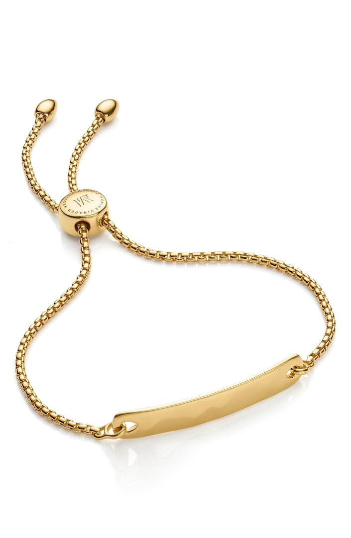 """<p><strong>Monica Vinader </strong></p><p>nordstrom.com</p><p><strong>$195.00</strong></p><p><a href=""""https://go.redirectingat.com?id=74968X1596630&url=https%3A%2F%2Fwww.nordstrom.com%2Fs%2Fmonica-vinader-engravable-havana-friendship-chain-bracelet%2F5056094&sref=https%3A%2F%2Fwww.townandcountrymag.com%2Fstyle%2Fg2095%2Fmothers-day-gift-ideas%2F"""" rel=""""nofollow noopener"""" target=""""_blank"""" data-ylk=""""slk:Shop Now"""" class=""""link rapid-noclick-resp"""">Shop Now</a></p><p>Not only would you be giving mom a piece from one of <a href=""""https://www.townandcountrymag.com/style/jewelry-and-watches/news/g1420/kate-middletons-favorite-jewelry/"""" rel=""""nofollow noopener"""" target=""""_blank"""" data-ylk=""""slk:Kate Middleton's favorite jewelry brands"""" class=""""link rapid-noclick-resp"""">Kate Middleton's favorite jewelry brands</a>, but having it monogramed would be the ultimate finishing touch. </p>"""