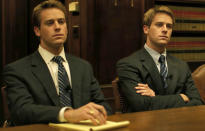 <p>Who can forget Hammer in his breakout role in 2010's Oscar-winning film <i>The Social Network</i>. He played the social elite Winklevoss twins — Mark Zuckerberg's Harvard classmates who went on to sue him over the founding of Facebook. <i>(Photo: Columbia Pictures)</i></p>