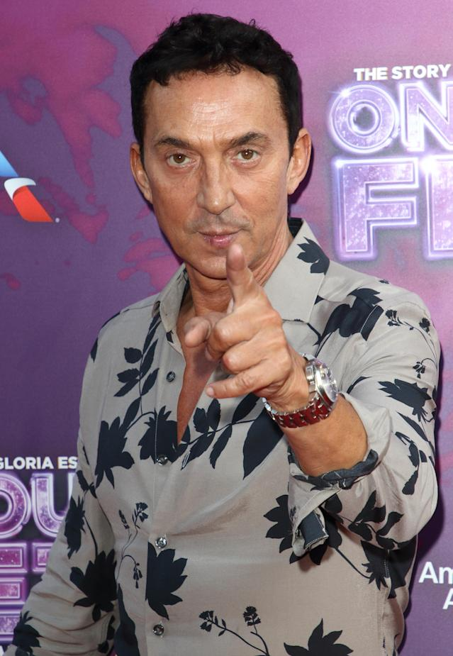 Bruno Tonioli arrives on the red carpet during the On Your Feet Press Night at the London Coliseum, St Martin's Lane. (Keith Mayhew / SOPA Images/Sipa USA)