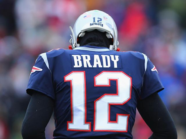 Tom Brady will lead the Patriots into the playoffs once again: Getty
