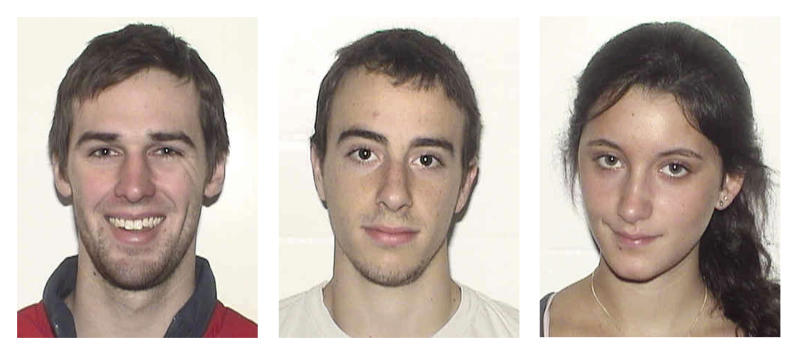This combination of undated student identification photos provided by Boston University shows Austin Brashears, of Huntington Beach, Calif., left; Roch Jauberty, of Paris, France, center; and Daniela Lekhno, of Manalapan, N.J., right. The three students were killed in a minivan crash near the town of Taupo, New Zealand, Saturday, May 12, 2012. They had been enrolled in a BU study abroad program in Auckland, New Zealand. (AP Photo/Boston University)