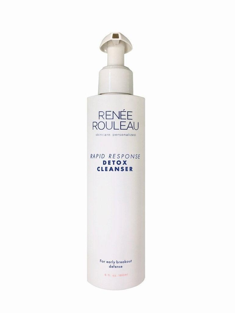 "<h2>Reneé Rouleau Rapid Response Detox Cleanser</h2><br>We don't call this the fire extinguisher of cleansers for nothing. It's packed with gentle yet powerful ingredients like kaolin clay, tea tree oil, and lactic acid to sop up excess sebum that causes breakouts before they even happen. So, when you feel a deep-rooted pimple popping up — this will be like an early eviction notice.<br><br><strong>Renée Rouleau</strong> Reneé Rouleau Rapid Response Detox Cleanser, $, available at <a href=""https://go.skimresources.com/?id=30283X879131&url=https%3A%2F%2Fwww.reneerouleau.com%2Fproducts%2Frapid-response-detox-cleanser"" rel=""nofollow noopener"" target=""_blank"" data-ylk=""slk:Renée Rouleau"" class=""link rapid-noclick-resp"">Renée Rouleau</a>"
