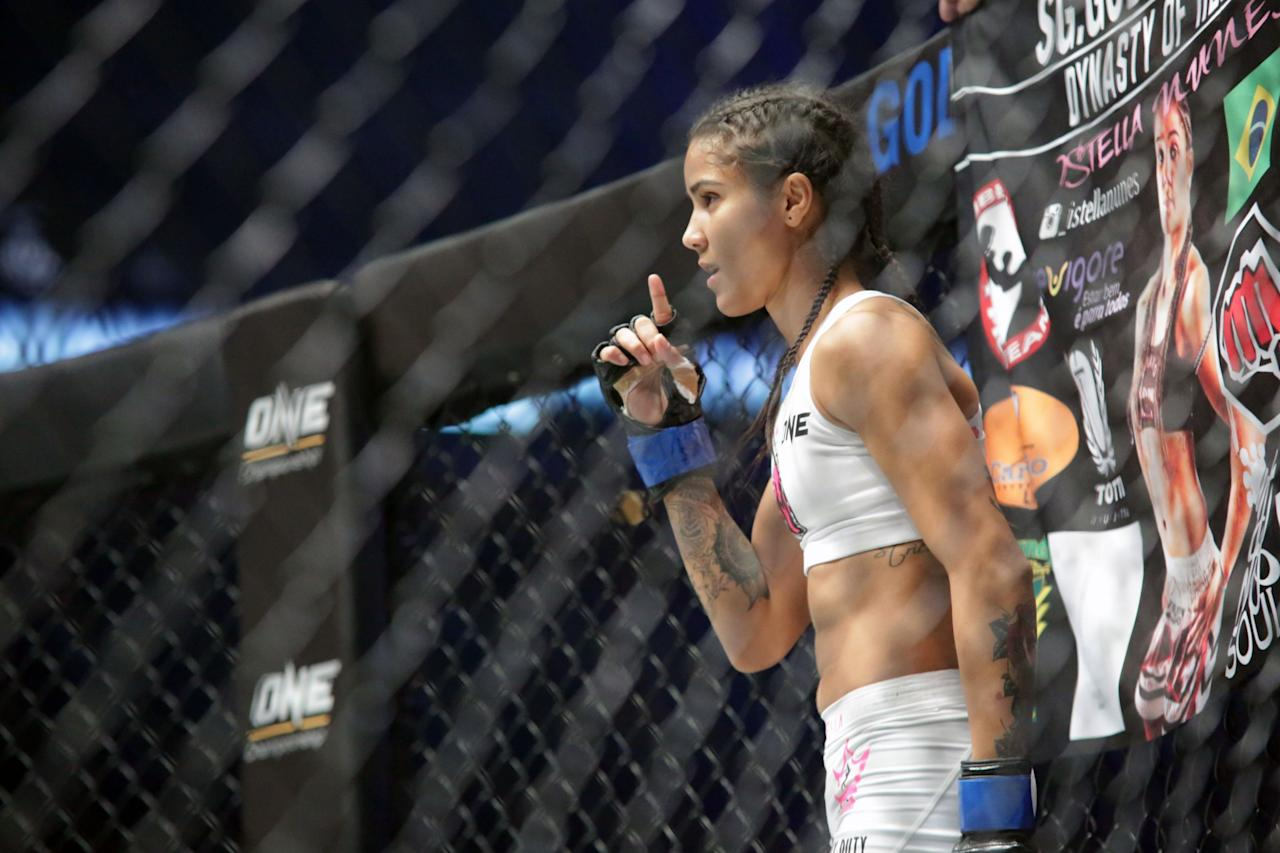 <p>Brazilian atomweight MMA fighter Istela Nunes. (PHOTO: Dhany Osman / Yahoo Newsroom) </p>