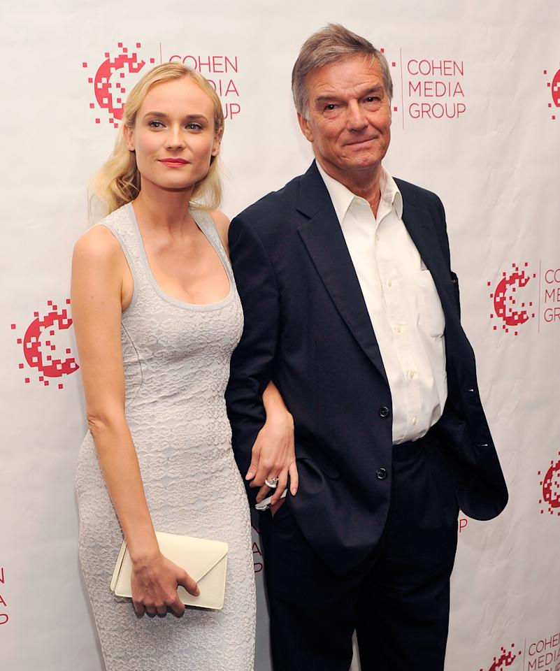 """NEW YORK, NY - JULY 09:  Actress Diane Kruger and director Benoit Jacquot attend the """"Farewell, My Queen"""" New York Screening at MOMA on July 9, 2012 in New York City.  (Photo by Stephen Lovekin/Getty Images)"""