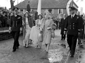 <p>Princess Elizabeth was just 13 when she fell head over heels for young naval cadet Philip Mountbatten, Prince of Greece and Denmark in 1939. They began exchanging letters and three years later the two were photographed at Philip's cousin's wedding. Photo: Getty Images.</p>