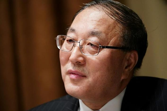 China's ambassador to the United Nations, Zhang Jun, seen here in December 2019, has sharply criticized the United States over its handling of the coronavirus