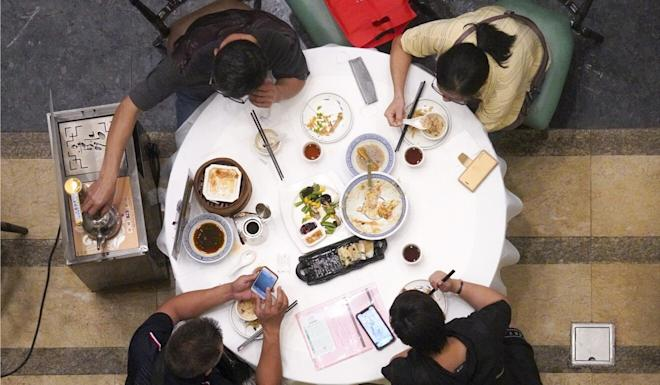 While restaurants are once again able to seat four to a table, the sector expects to be hurt badly by their inability to host large family gatherings over the holiday. Photo: Winson Wong