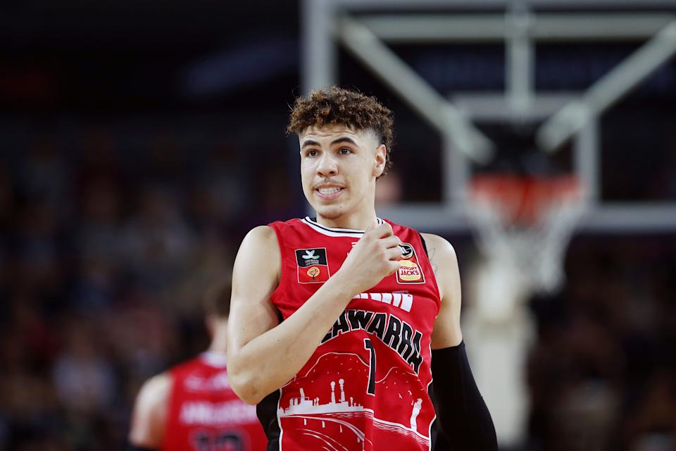 Projected high-end lottery pick LaMelo Ball's lone season in Australia was cut short by injury. (Anthony Au-Yeung/Getty Images)