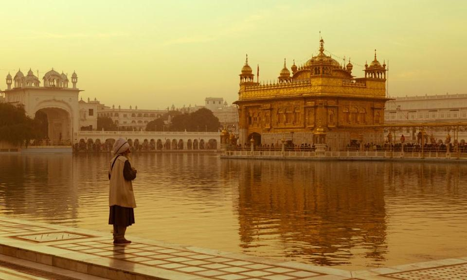 The Golden Temple in Amritsar, Punjab.