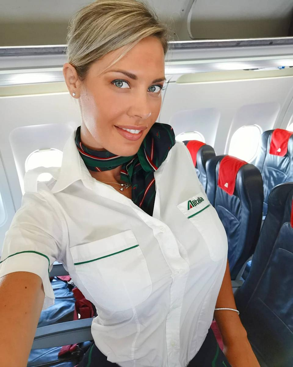 CATANIA, ITALY: THIS WOMAN is slamming jealous trolls who say her images are PHOTOSHOPPED after claiming to be the most followed air hostess in the world. Air hostess, Laura D?amore (37), from Catania, Italy, decided to apply for the job a few years after graduating from university. Almost 13-years later, Laura claims to be ?the most followed air hostess in the world? with an impressive 666,000 fans on Instagram alone. It?s not something Laura expected. She began posting photos online of her glamourous work look and stunning off-duty attire and brands and companies began to take notice. Laura travels on several routes across Europe and is regularly recognised by fans ? with a disproportionate amount of these being men. Laura could never have imagined the opportunities her role as an air hostess would lead to. Whilst she loves her job, Laura will soon be answering the call of the silver-screen.
