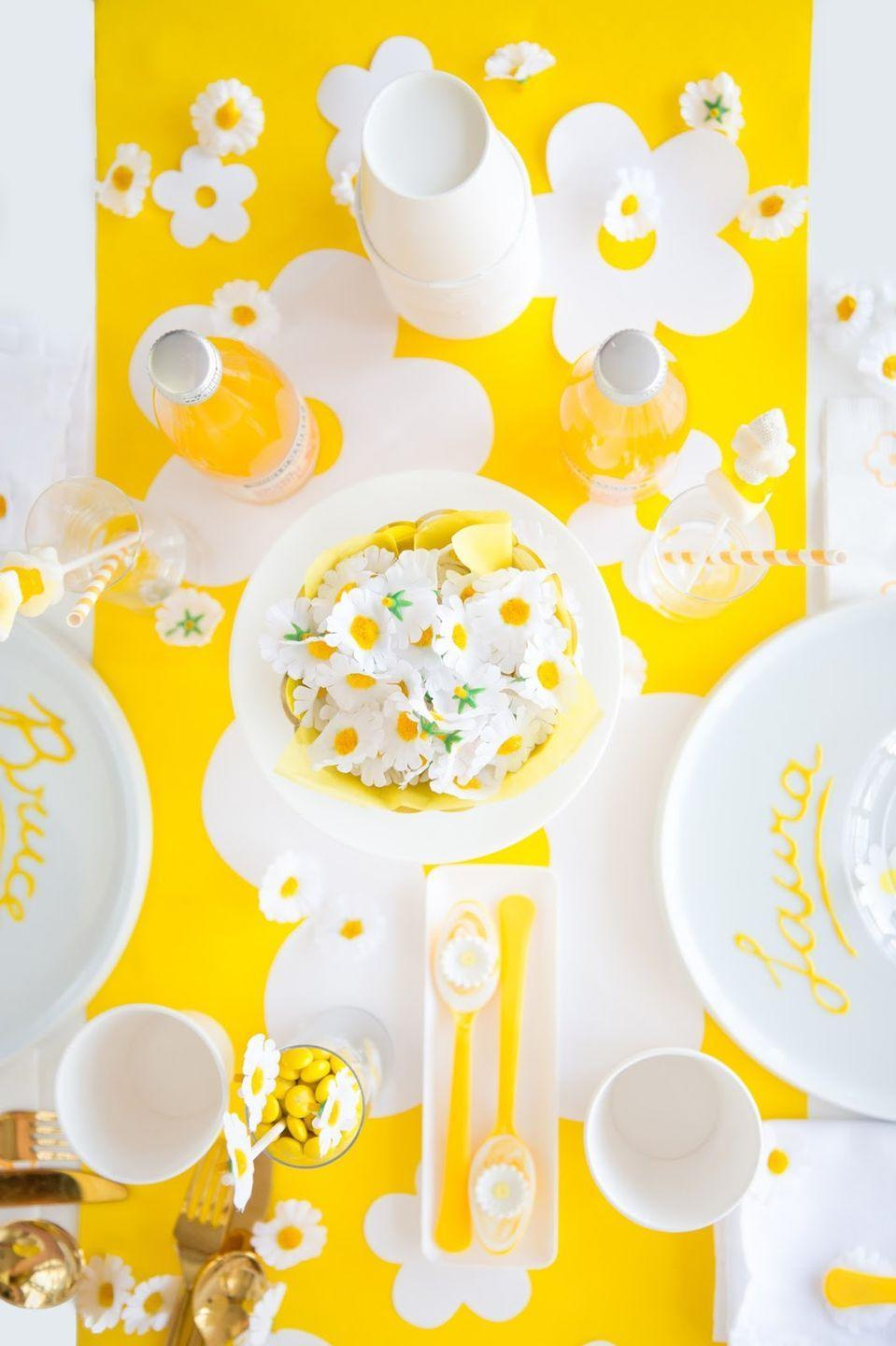 "<p>If you're turning 50 in 2021, you were born in the early '70s. So what better way to celebrate than with a retro-themed birthday party? Put your flower power on display with a playful daisy-themed tablescape. </p><p><strong>See more on <a href=""http://www.awwsam.com/2016/03/spring-party-hacks.html"" rel=""nofollow noopener"" target=""_blank"" data-ylk=""slk:Aww Sam"" class=""link rapid-noclick-resp"">Aww Sam</a>. </strong></p><p><strong><a class=""link rapid-noclick-resp"" href=""https://go.redirectingat.com?id=74968X1596630&url=https%3A%2F%2Fwww.walmart.com%2Fip%2FArtificial-Flower-Heads-60-Pack-Fake-Daisy-Flowers-Wedding-Decorations-Baby-Showers-Diy-Crafts-Mixed-Colors-2-1-X-2-1-X-1-inches%2F817771480&sref=https%3A%2F%2Fwww.thepioneerwoman.com%2Fhome-lifestyle%2Fentertaining%2Fg34192298%2F50th-birthday-party-ideas%2F"" rel=""nofollow noopener"" target=""_blank"" data-ylk=""slk:SHOP DAISY DECORATIONS"">SHOP DAISY DECORATIONS</a><br></strong></p>"