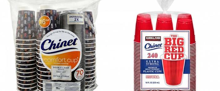 Chinet Cups Pack and Kirkland Signature Chinet The Big Red Cup pack
