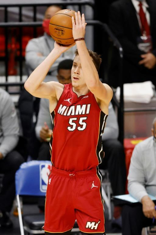 Miami's Duncan Robinson matched an NBA Christmas Day record by making seven 3-pointers to spark the Heat to a home victory over New Orleans