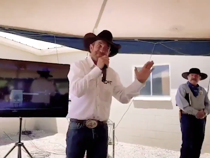 Couy Griffin, an Otero County Commissioner and Cowboys For Trump founder (Cowboys For Trump)